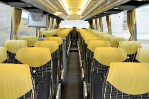 Business Class Reisebus innen