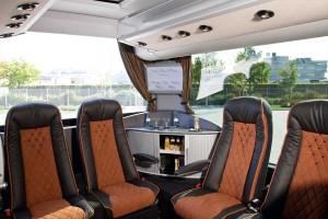 First Class Reisebus Innenraum